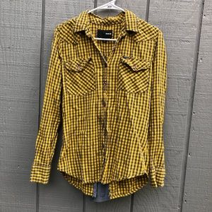 Women's small Hurley flannel plaid button down